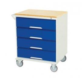 Bott Verso Metal Mobile Cabinet - 4 Drawers & Multiplex Top (955H x 750W x 550D)