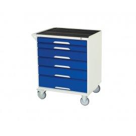 Bott Verso Metal Mobile Cabinet - 6 Drawers, Top Tray & Mat (925H x 750W x 550D)