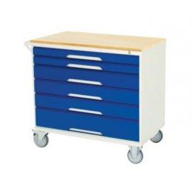 Bott Verso Metal Mobile Cabinet - 6 Drawers & Multiplex Top (955H x 1000W x 550D)
