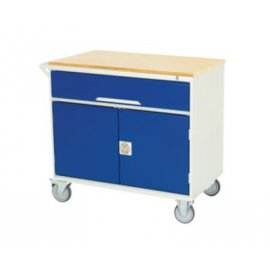 Bott Verso Metal Mobile Cabinet - 1 Drawer, 1 Cupboard & Multiplex Top (955H x 1000W x 550D)