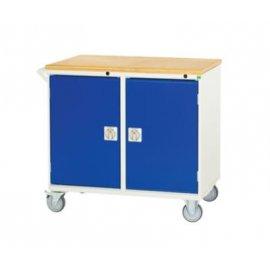 Bott Verso Metal Maintenance Trolley - Cupboard & Multiplex Top (955H x 1000W x 550D)