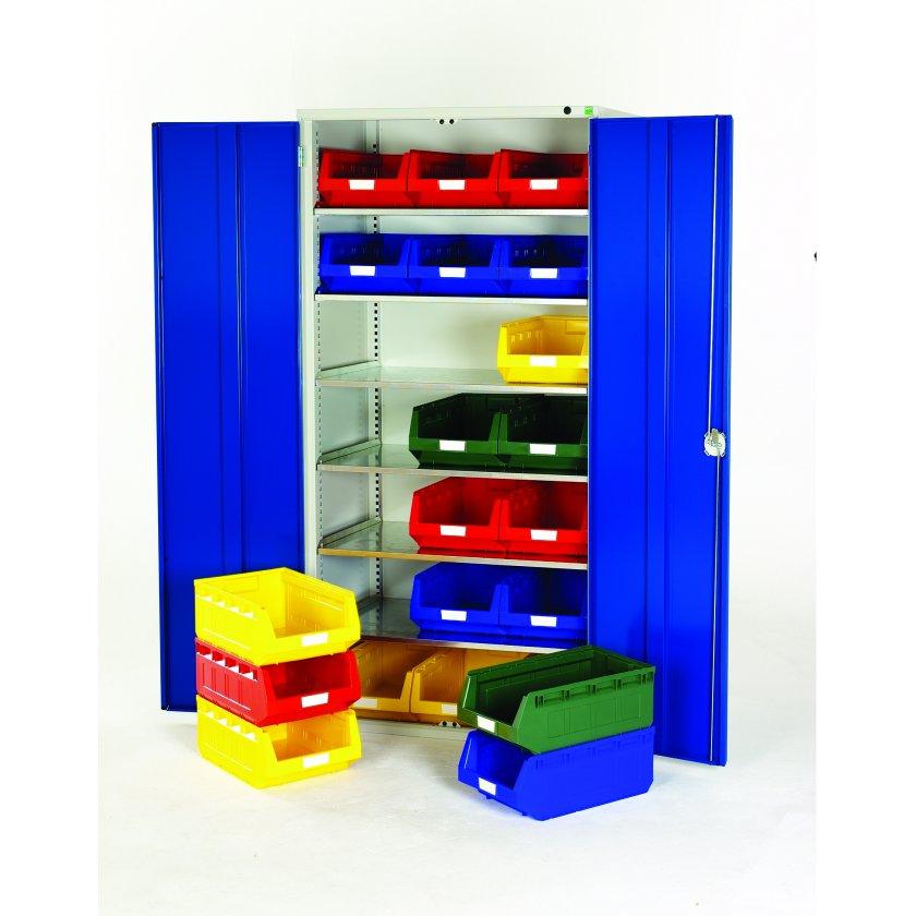 metal storage bins