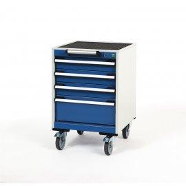 Bott Cubio Metal Mobile Drawer Cabinet - 4 Drawers (780H x 525W x 525D)
