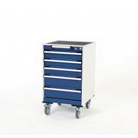 Bott Cubio Metal Mobile Drawer Cabinet - 5 Drawers (880H x 525W x 525D)