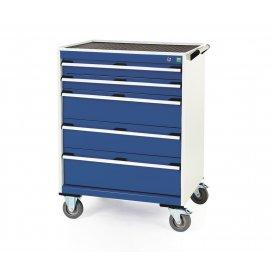 Bott Cubio Metal Mobile Drawer Cabinet - 5 Drawers (980H x 800W x 650D)