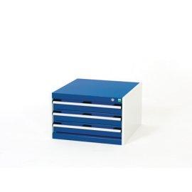Bott Cubio Metal Drawer Cabinet - 3 Drawers (400H x 650W x 750D)