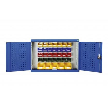 Bott Cubio Wall Mounted Cupboard (700H x 800W x 325D) - With Bins