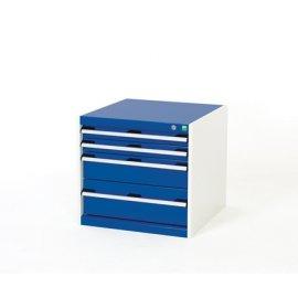 Bott Cubio Metal Drawer Cabinet - 4 Drawers (600H x 650W x 650D)