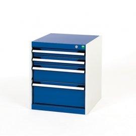 Bott Cubio Metal Drawer Cabinet - 4 Drawers (600H x 525W x 650D)