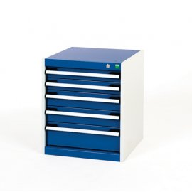 Bott Cubio Metal Drawer Cabinet - 5 Drawers (600H x 525W x 525D)
