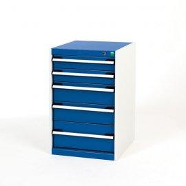 Bott Cubio Metal Drawer Cabinet - 5 Drawers (800H x 525W x 650D)